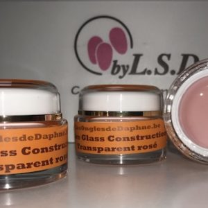"FIBRE GLASS Construction 30 ml Transparent rosé ""EXTRA SOLIDE"""