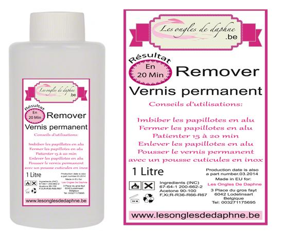 1 Litre Remover Professionnel vernis permanent